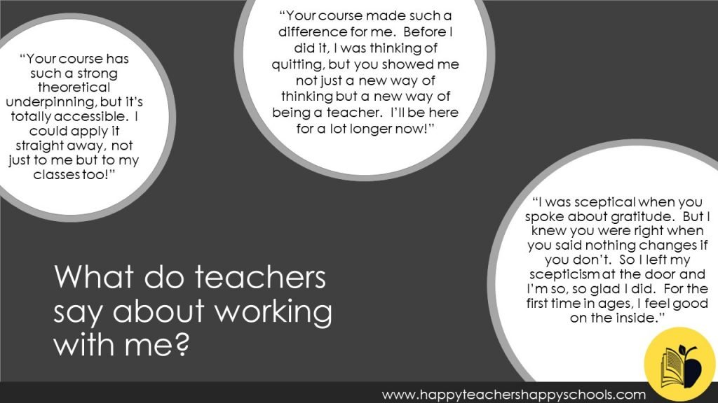 teacher feedback on working with me